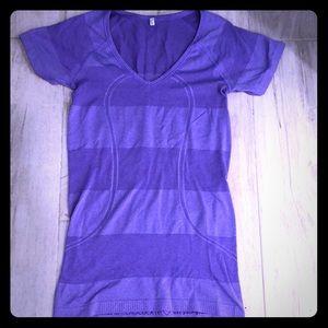 Purple Run Swiftly Lululemon Size 6 Shirt